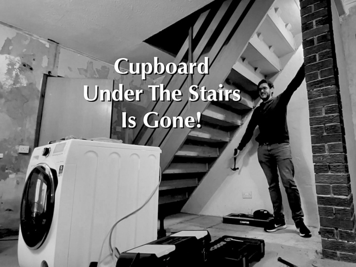Cupboard Under The Stairs Is Gone!